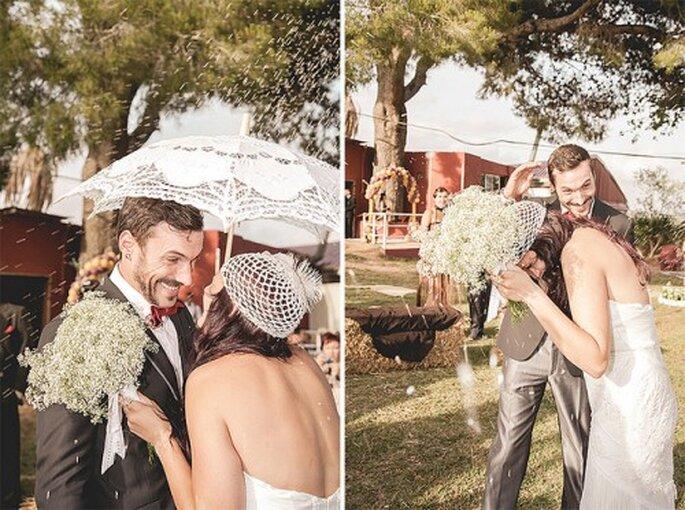 Hübsche Schirme im Spitzen-Look liegen im Trend. Foto: Sara Lobla