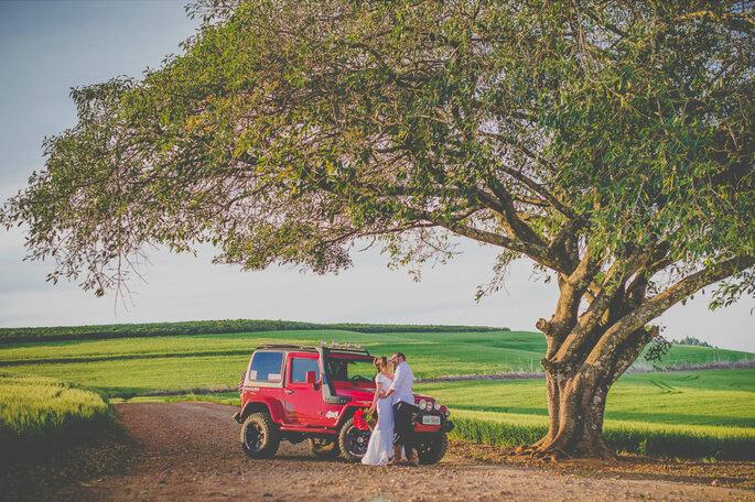 Jeep em casamento