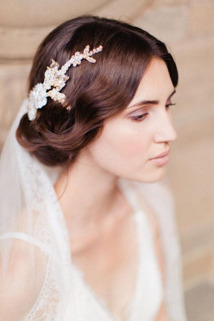 Peinado de novia con velo