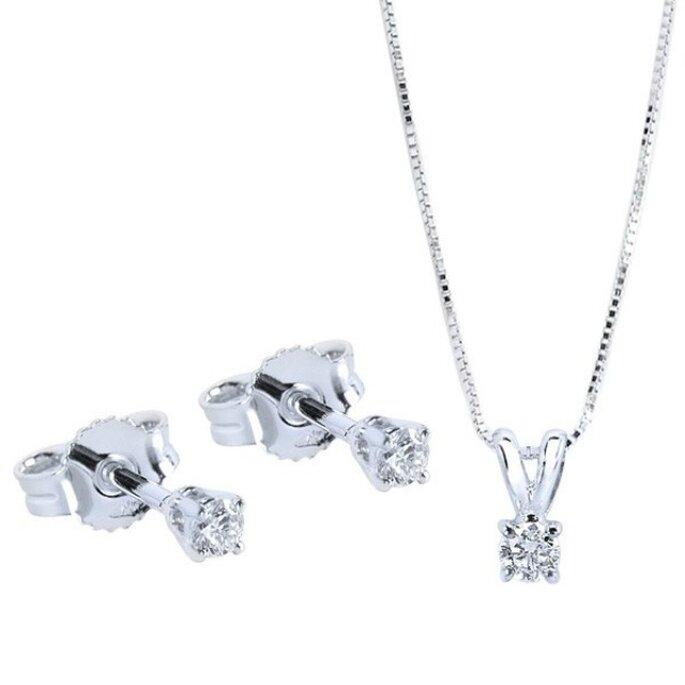 I diamanti sono sempre una delle scelte più gettonate per abbellirsi nel giorno del matrimonio.