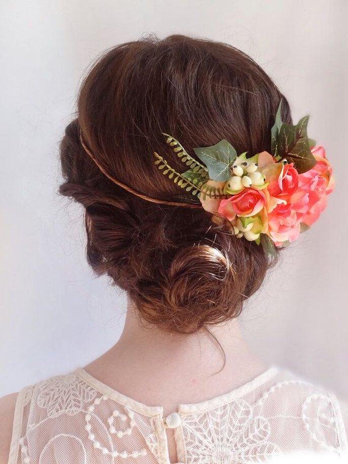 Peinados con flores para primavera - Etsy