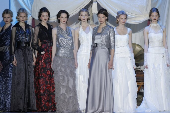 Inmaculada García - Collection de robes de mariée 2014. Photo: Barcelona Bridal Week / Ugo Cámara