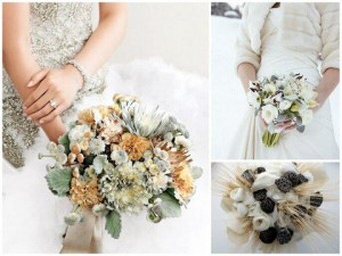 Diferentes ramos de novia con flores de invierno - Martha Stewart