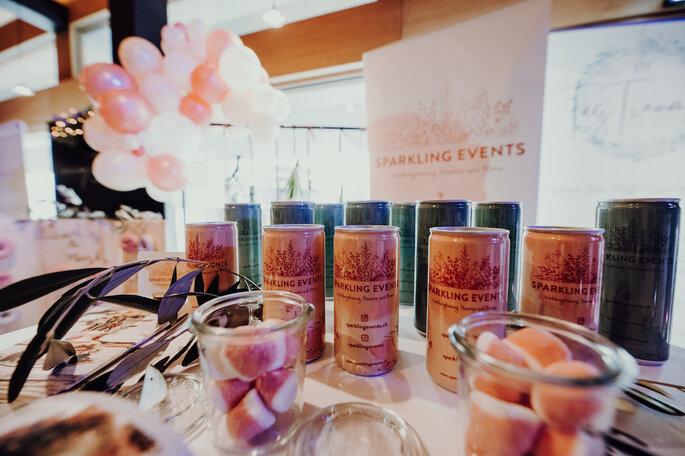 Getränke bei der Hochzeitsmesse Bridal Teatime.
