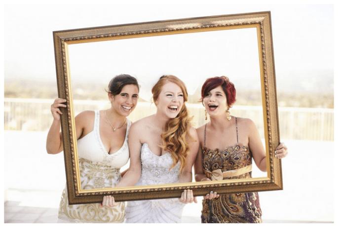 Elige marcos de diferentes tamaños y diseños para tus fotos de boda - Foto Dessy Baytan Photography