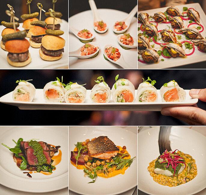 Buffet de mariage : on offre une multitude de petites choses à savourer - Crédits photos: Sweet Little Photographs