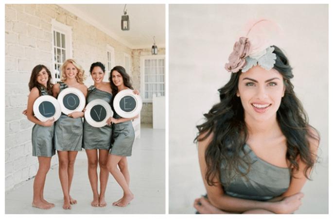 Vestidos para damas de boda en tendencia - Foto Elizabeth Messina