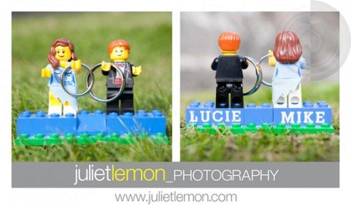 Figuritas de novios para pastel de boda con Legos