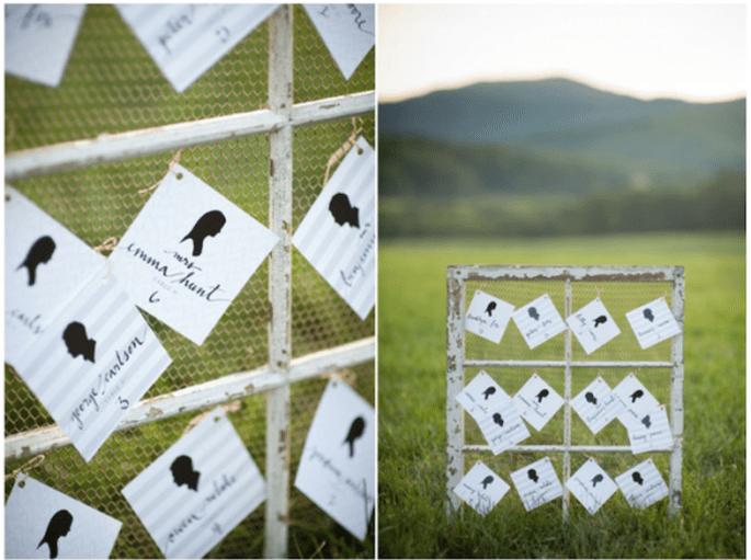Siluetas para decorar tu boda - Foto Elisa B