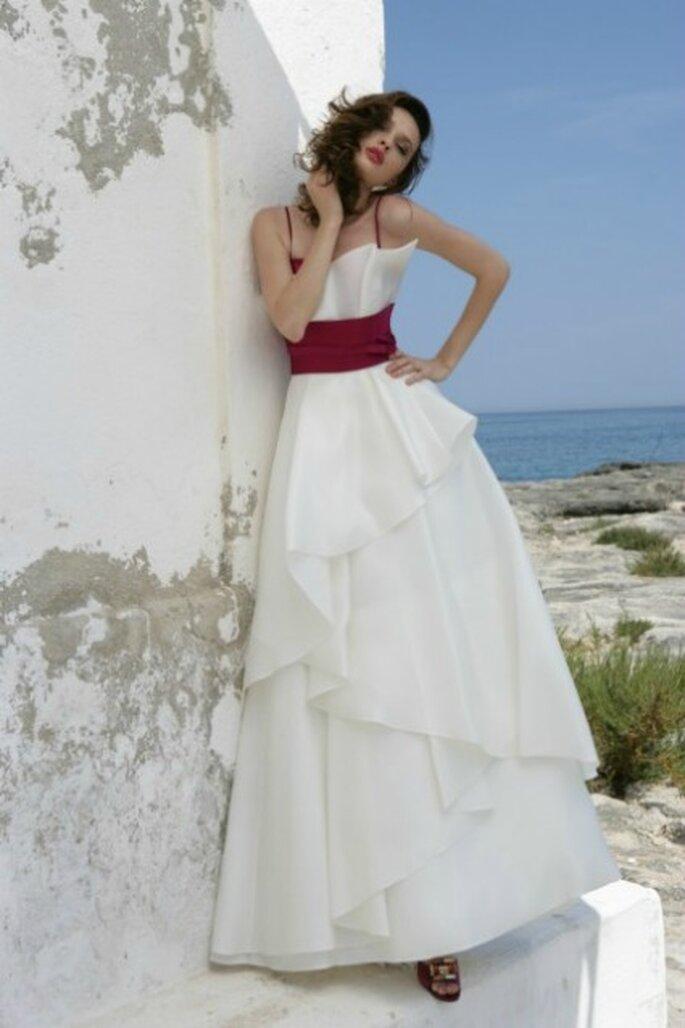 Abito di seta con corpetto bicolore - Mariella Burani per il 2012