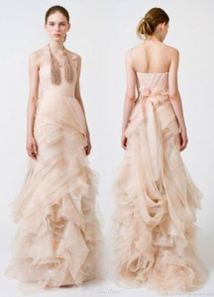 Vera Wang 2011, vestido de novia rosa