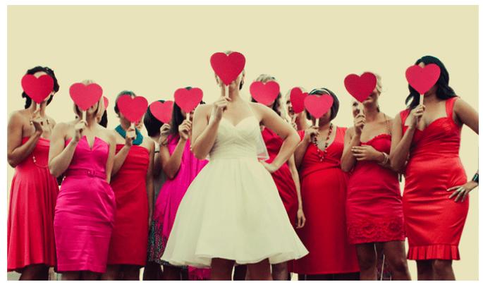 Una boda inspirada en San Valentín con muchos corazones - Foto Our Labor of Love
