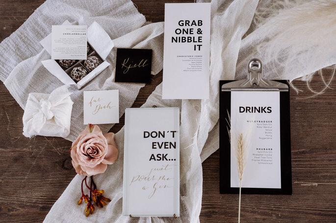 Skandi Chic - Hochzeitskonzept im skandinavischen Stil Papeterie