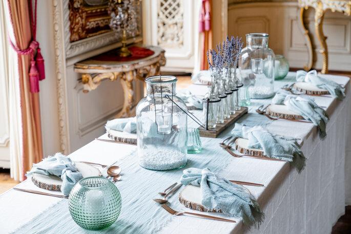 Hochzeitstische dekoriert von Table Cloth Hire