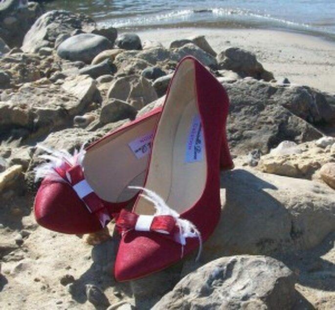 Zapatos de novia rojos - Mademoiselle Rose
