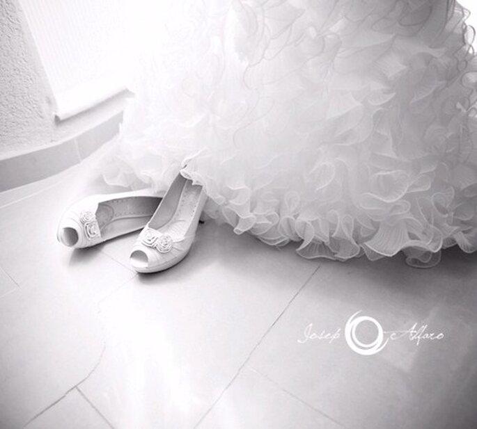 Brautschuhe aus Satin sind 2013 im Trend  – Foto: zapato josep alfaro