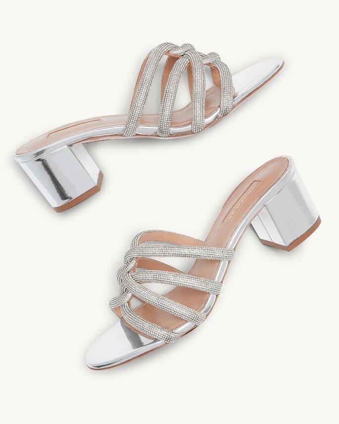 Chaussures de mariée talons moyens