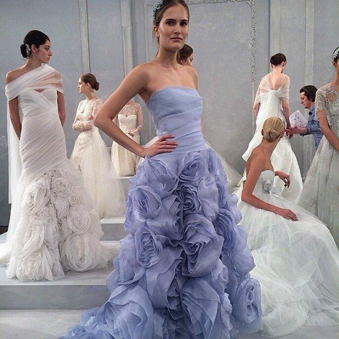 Monique Lhuillier, colección de novia 2015. Foto: redes sociales
