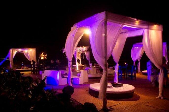 Locación a detalle del lugar de la recepción de boda - Foto Leven Foto