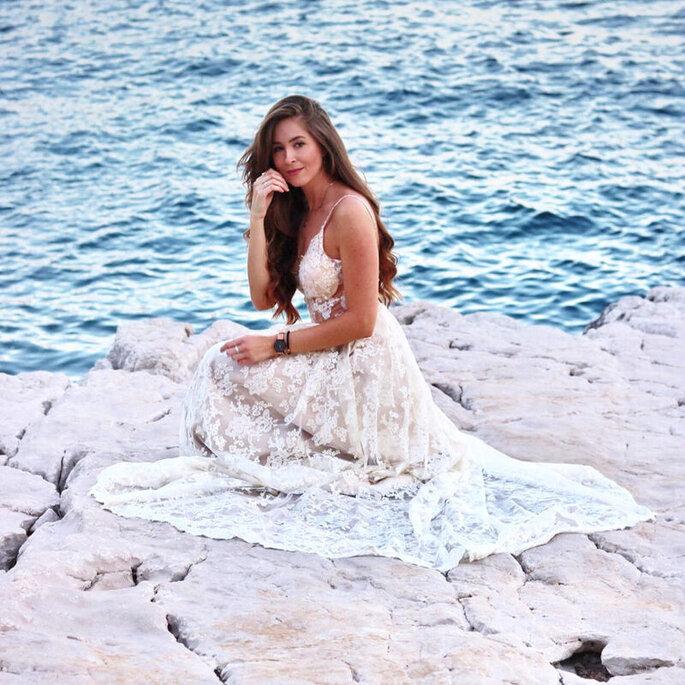 Navdra vestido novia boda mar