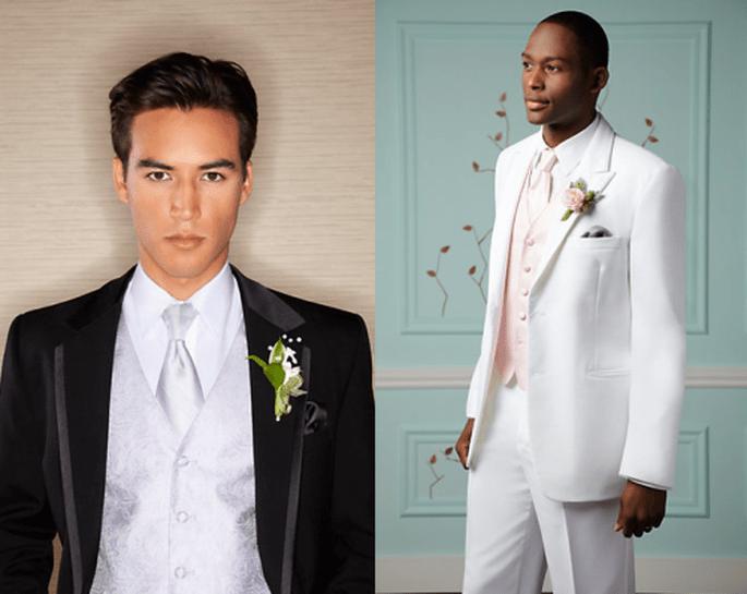 Esmoquin de novio para una boda romántica - Foto Men's Wearhouse