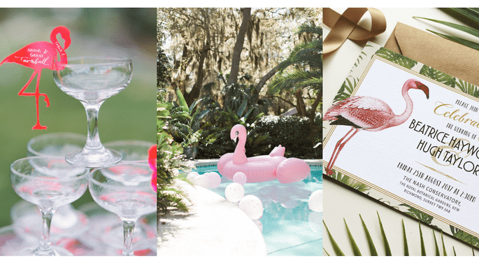 Flamingos para decorar tu boda