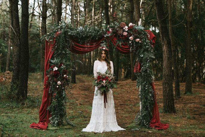 novia en el bosque
