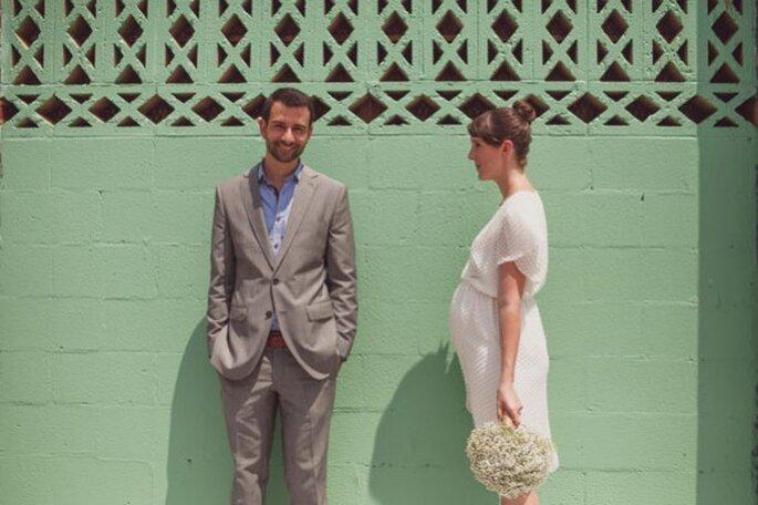 Inspiración para novias embarazadas - Foto Sarah Culver