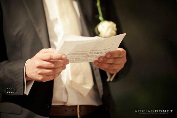 Discours de mariage, un exercice difficile - Crédit photo : Adrian Bonet