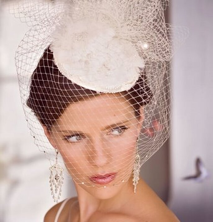Un cappello da sposa effetto retrò