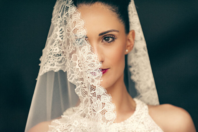 Nicola Centoducati - sposa con velo pizzo