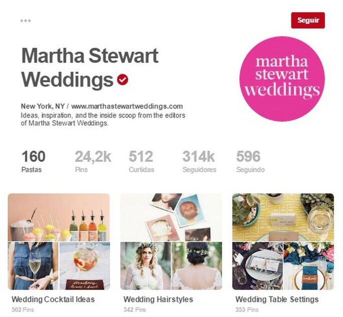 Martha Stewart Weddings. Foto: Pinterest