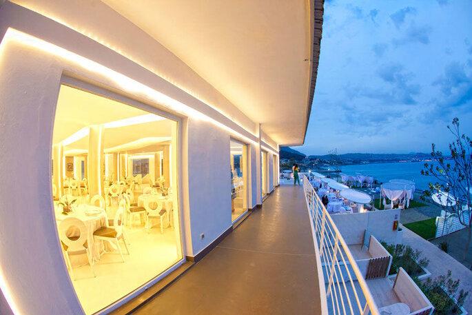 Kora Events - balcone location vista mare