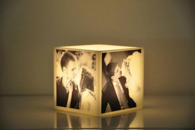 Velas personalizadas para boda. Foto: Candle In