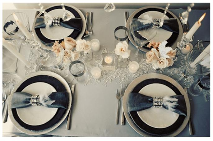 czarne dekoracje na ślub i wesele