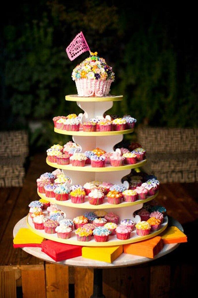 Pièce montée de cupcakes - Style me pretty