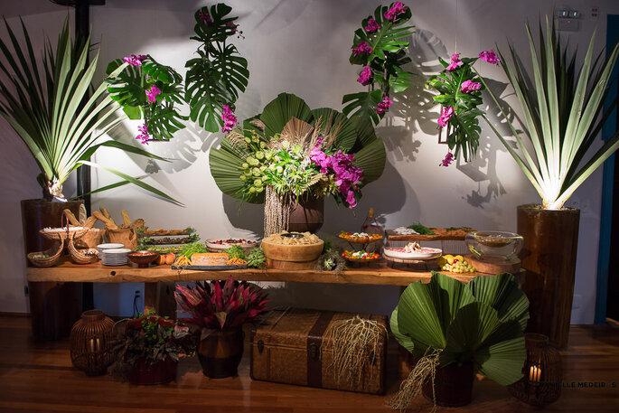 mesa buffet casamento decorada