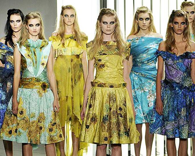 Vestidos de fiesta inspirados en Van Gogh - Rodarte