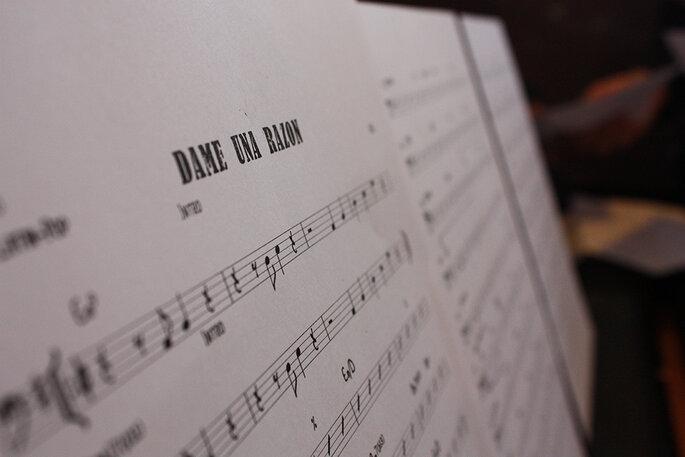 Partitura de una canción
