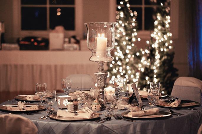 Decoração de mesas de casamento inspiradas no Natal