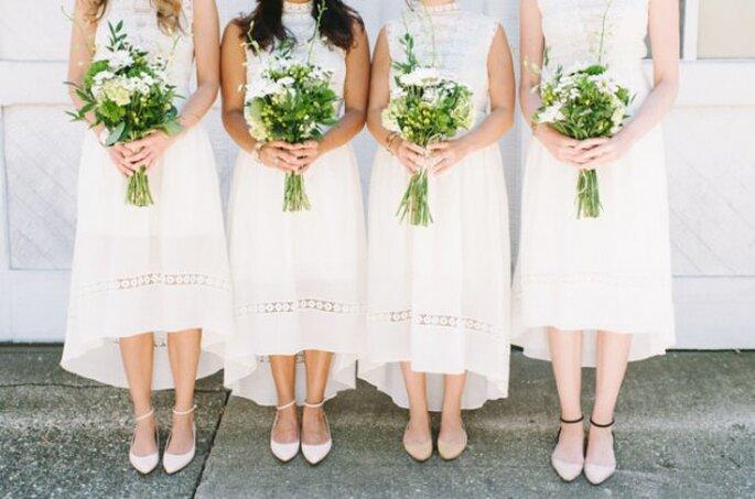 Tendance de robes mi-longues pour les demoiselles d'honneur - Photo T&S Hughes Photography