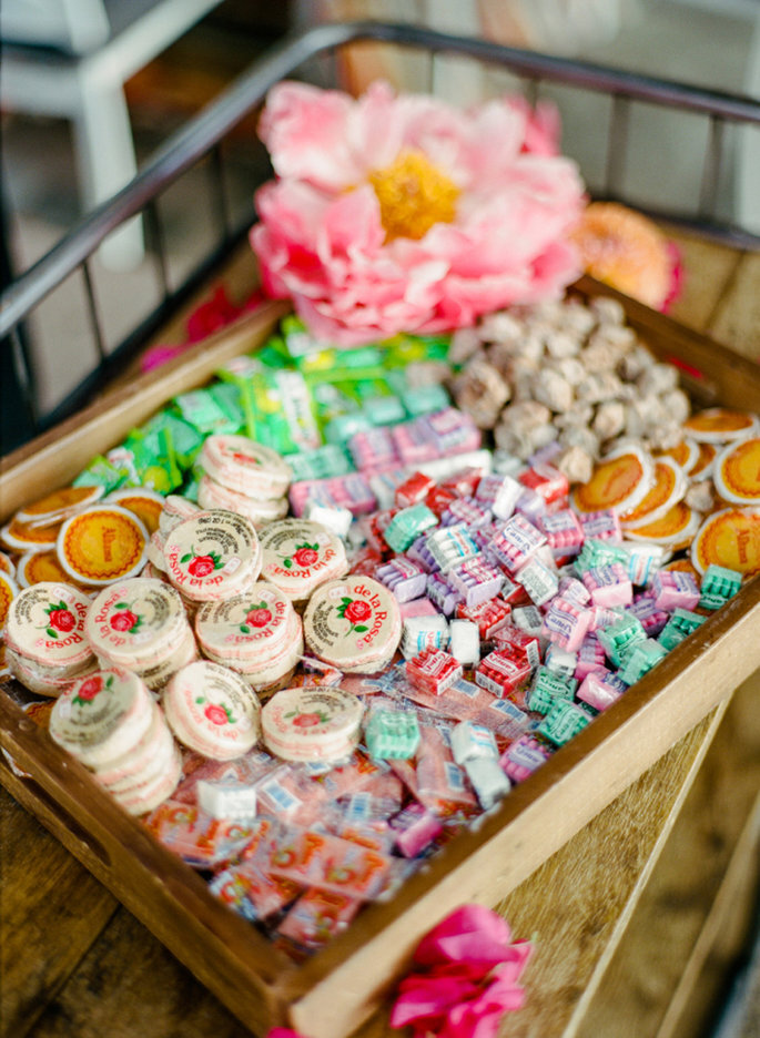 Ideas para candy bar de matrimonio