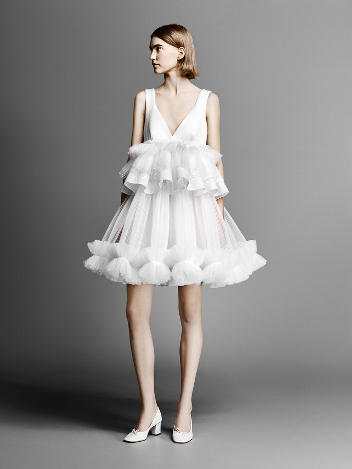 Robe de mariée empire courte