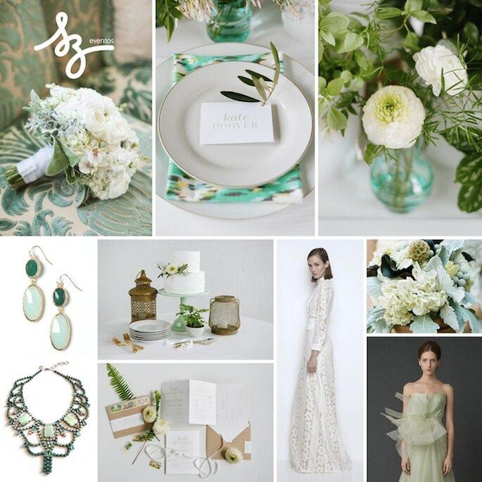 Inspiración en el color verde para tu boda - Fotos de Etsy, Vera Wang, Jeff Loves Jessica