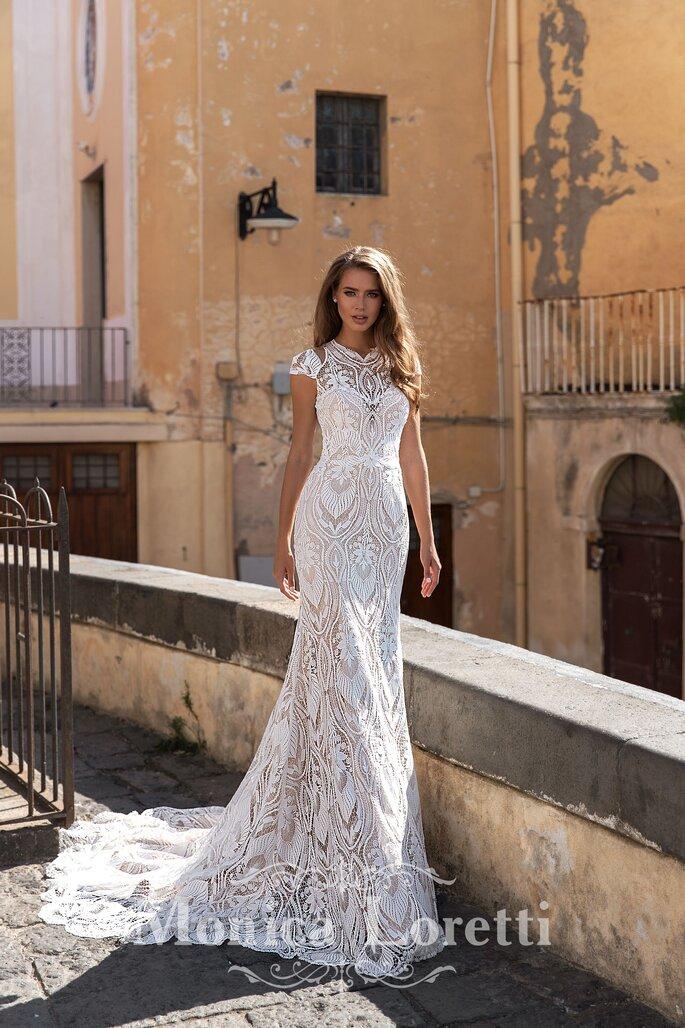 Robe de mariée en dentelle pour un mariage civil