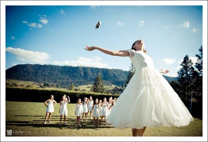 La tradición de lanzar el ramo. Imagne Layla Leloa