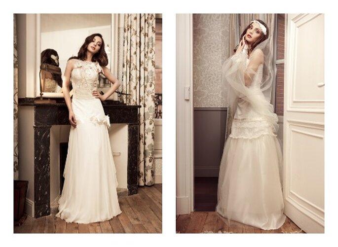 Robes de mariée Elsa Gary 2013. Modèles Bruant et Hiver de la collection Les Jolies Filles. Photos: Elsa Gary.