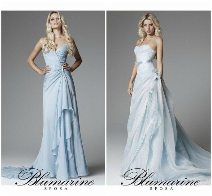 "Due proposte in azzurro per una sposa un pò ""Fata Turchina"" firmate da Blumarine Sposa Collezione 2013. Foto: www.blumarine.com"