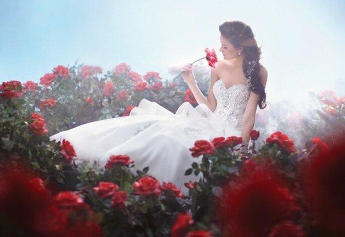 Vestido de novia inspirado en la princesa Bella - Foto Alfred Angelo