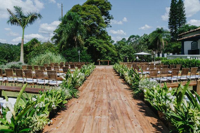 Cerimônia a céu aberto na Fazenda Fagundes